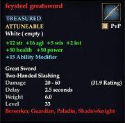 Feysteel greatsword