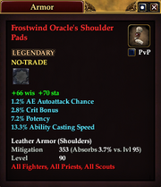 Frostwind Oracle's Shoulder Pads
