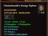 Ghatachonoth's Energy Siphon