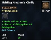 Halfling Medium's Girdle