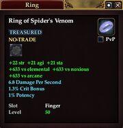 Ring of Spider's Venom