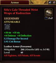 Sifu's Gale Threaded Wrist Wraps of Redirection