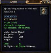 Spindlecog Hammer-studded Headband
