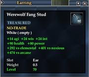 Werewolf Fang Stud