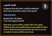 A gnoll tooth