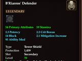B'Riareos' Defender (Level 70)