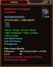Battleworn Gruengach Gauntlets