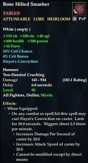 Bone Hilted Smasher