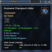 Frostwind Champion's Mitts
