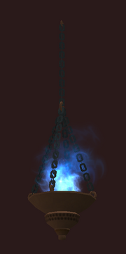 Hanging Blue Luminescent Torch