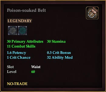 Poison-soaked Belt