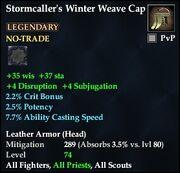Stormcaller's Winter Weave Cap