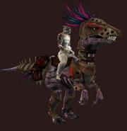 Vicious Mountain Saliraptor (Equipped)