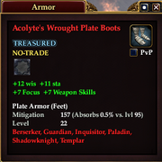 Acolyte's Wrought Plate Boots