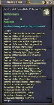 Alchemist Essentials Volume 54