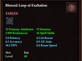 Blessed Loop of Exaltation