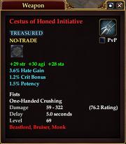 Cestus of Honed Initiative