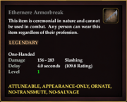 Ethernere Armorbreak