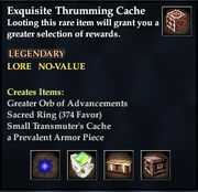 Exquisite Thrumming Cache