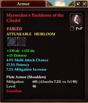 Myrmidon's Pauldrons of the Citadel