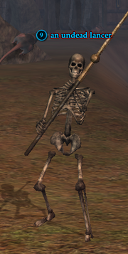 An undead lancer
