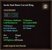 Arctic Foul Bone Carved Ring