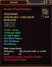 Double Plated Sabatons