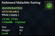 Fashioned Malachite Earring