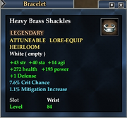 Heavy Brass Shackles