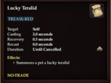 Lucky Teralid (Spell Scroll)