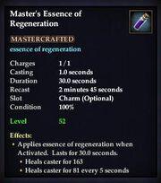 Master's Essence of Regeneration