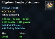 Pilgrim's Bangle of Acumen