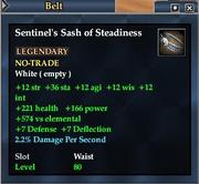 Sentinel's Sash of Steadiness