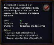 Steamfont Powered Bar