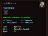Syllokk's Law
