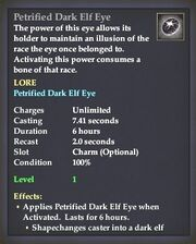 Petrified Dark Elf Eye