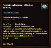 Umbrite Adornment of Fading (Lesser)