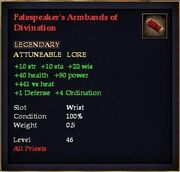 Fatespeaker's Armbands of Divination