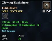 Glowing Black Stone