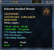 Kaborite Studded Shroud