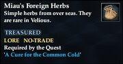 Miau's Foreign Herbs