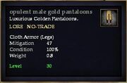 Opulent male gold pantaloons