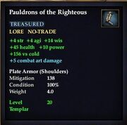 Pauldrons of the Righteous