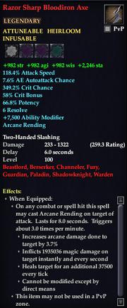 Razor Sharp Bloodiron Axe