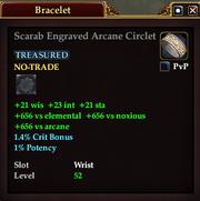 Scarab Engraved Arcane Circlet