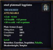 Steel platemail legplates