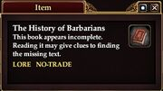 The History of Barbarians (Quest Starter)