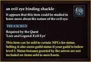 An evil eye binding shackle