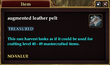 Augmented leather pelt