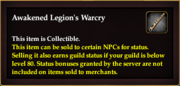 Awakened Legion's Warcry